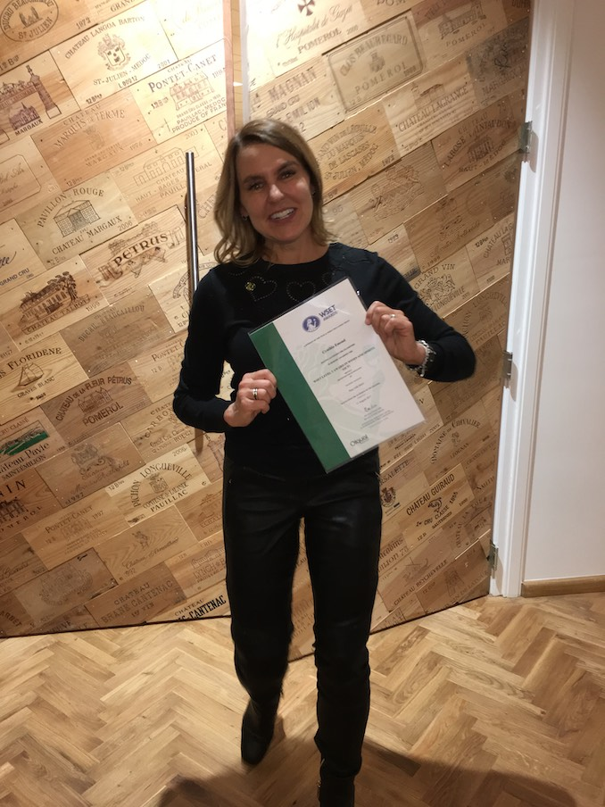 Just received my Wset 3 Diploma for Wine Studies, in Amsterdam where we were living for a year.