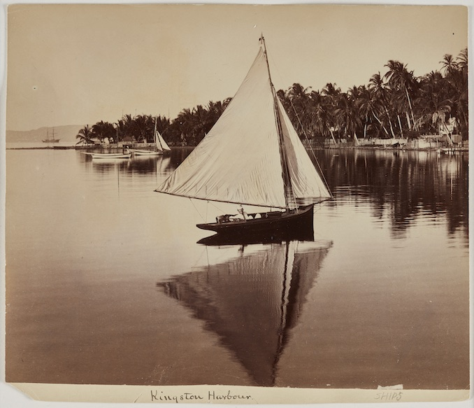 Valentine & Sons A Boat on Kingston Harbor, 1891 (variation) 21.59 cm x 26.67 cm albumen print Promised Gift of Patrick Montgomery