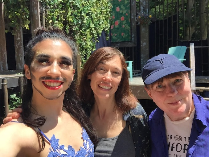 Severn Thompson - Celebrating Pride in the park with fabulous actors Heath V. Salazar and Nora McLellan!