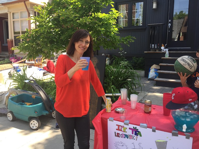 Severn Thompson - Cooling off with some local lemonade