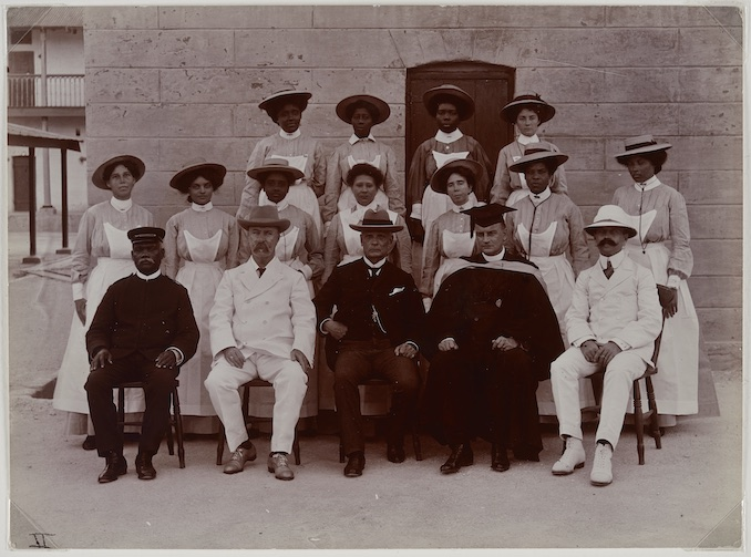 Glendairy Prison Officials, Barbados, 1909