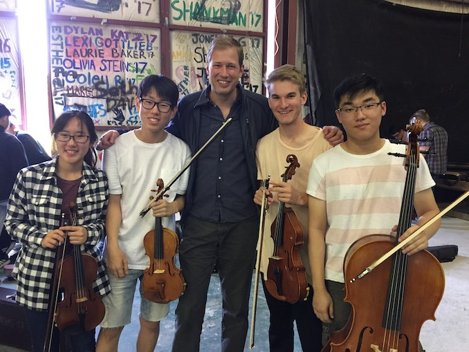 Jonathan Crow Group pic with a string quartet I coached at the Interprovincial Music Camp