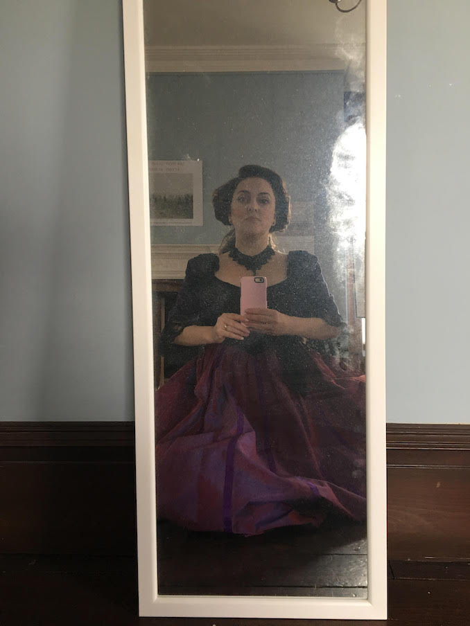 Me, as Lady Vanessa on the set of A Gay Victorian Affair. It's super gay and super victorian.