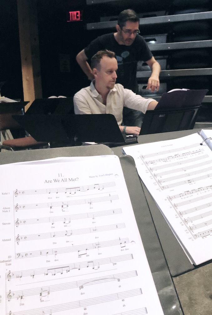 It just so happens that I'm also understudying a role in the show (long story). So I'm the last one to get time with music director Tom Lillington.