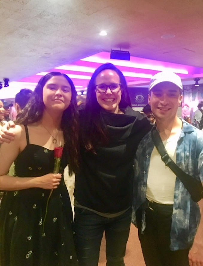 Cody Berry - After my sister's performance with Outside Looking In, an accredited dance program for Indigenous youth. Pictured with my sister and the founder of Outside Looking In, Tracy Smith.