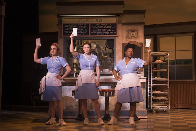 Ephie Aardema, Christine Dwyer and Melody A Betts in the National Touring Production of WAITRESS - Photo Credit Daniel Lippitt