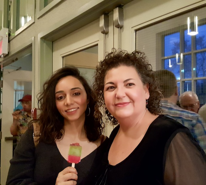Sophia with filmmaker Laura Friedmann