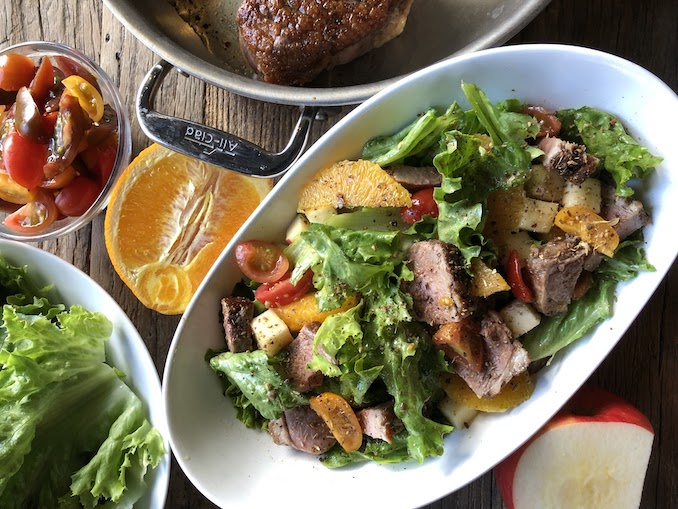 Garam Masala Duck Breast Salad w/ Broken Honey-Citrus Duck-Fat Vinaigrette