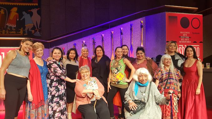 Opening night of The Unnatural and Accidental Women at the NAC, directed by Muriel Miguel. Working with and meeting Indigenous matriarchs that have cleared the way so that we can do the work we can do now. I mean, we're definitely still fighting, but I am honoured as heck to be in the presence of these women.