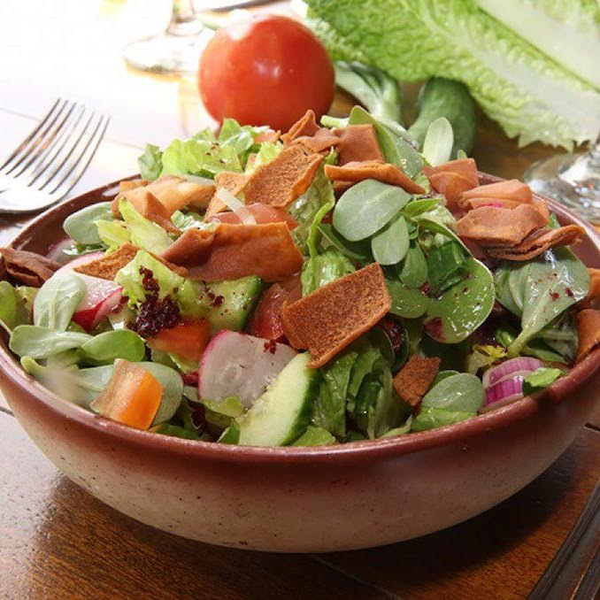 Fattoush salad recipe from Jasmine Kitchen catering