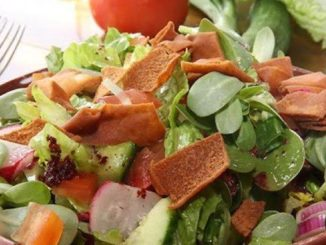 Fattoush salad recipe from Jasmine Kitchen catering
