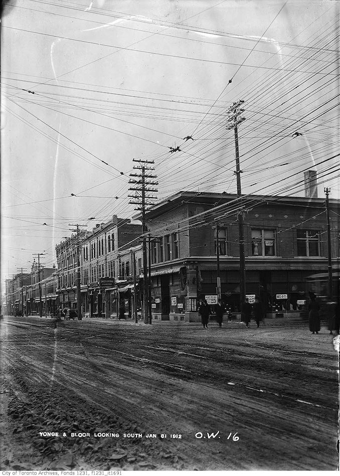 1912 - January 31 - Southwest corner of Yonge and Bloor streets