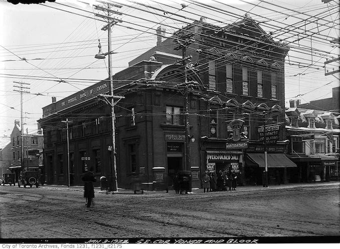 1924 - January 3 - Southeast corner of Bloor and Yonge streets (Imperial Bank of Canada)