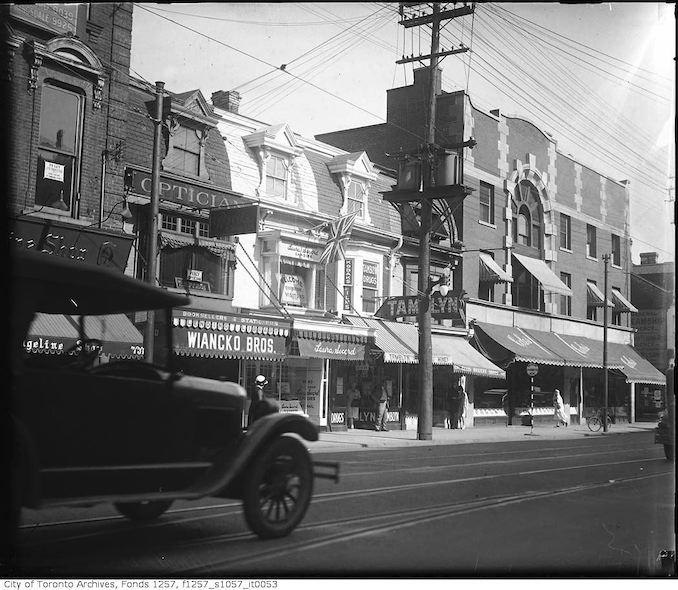 Between Hayden Street and Bloor Street