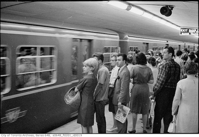 1966 - Crowds at Bloor-Yonge 2