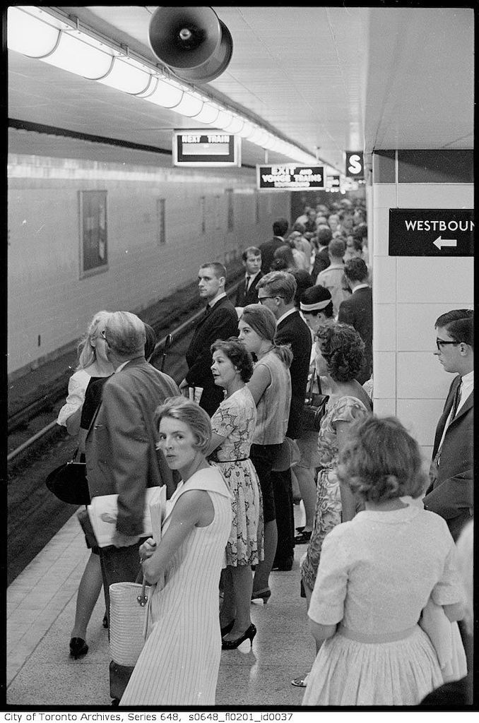 1966 - Crowds at Bloor-Yonge 4