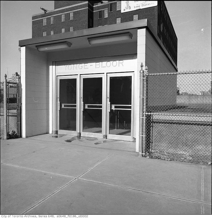 1966 - Entrances and mezzanine to Yonge and Bloor Station 2