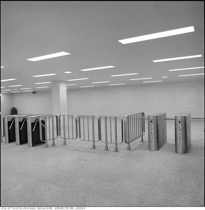 1966 - Entrances and mezzanine to Yonge and Bloor Station 3