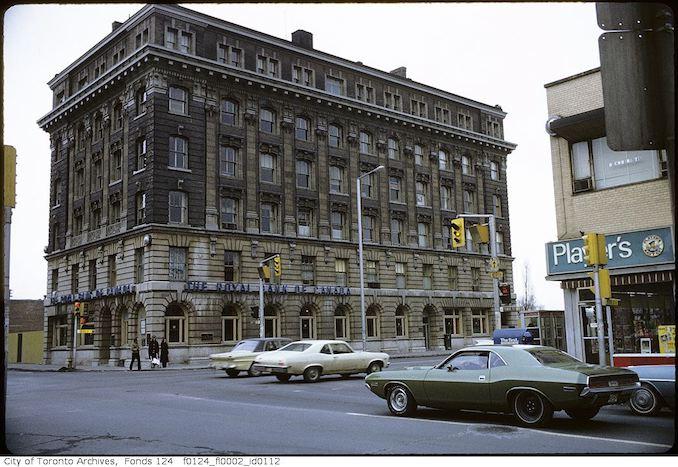 1971 - February - Yonge Street and Bloor Street East, northeast corner