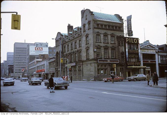 1971 - February - Yonge Street and Bloor Street West, northwest corner