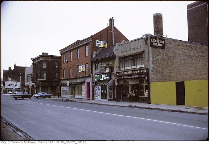 1971 - February - Yonge Street, east side, north of Bloor Street - Albert Britnell Book Shop