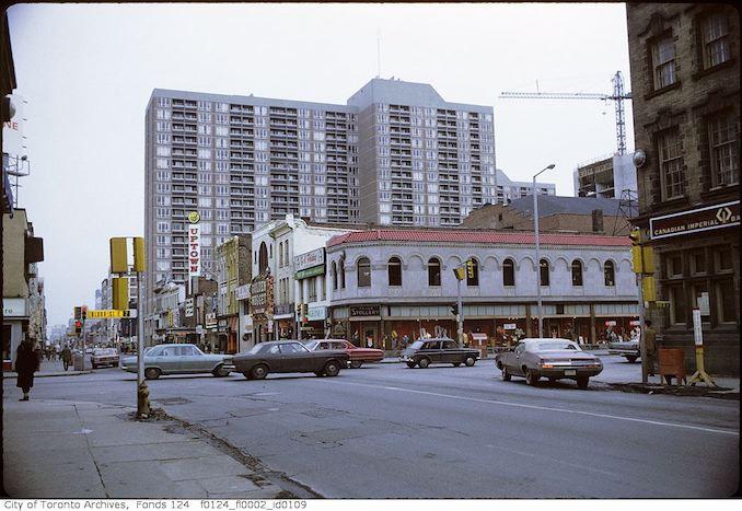 1971 - February - Yonge Street, looking south toward Bloor Street
