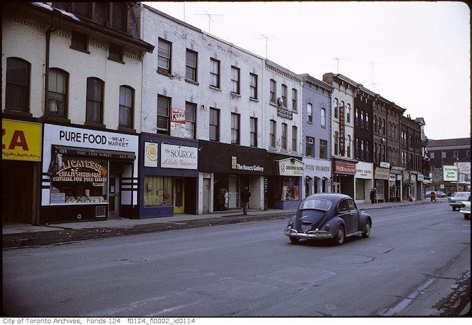1971 - February - Yonge Street, west side, north of Bloor Street