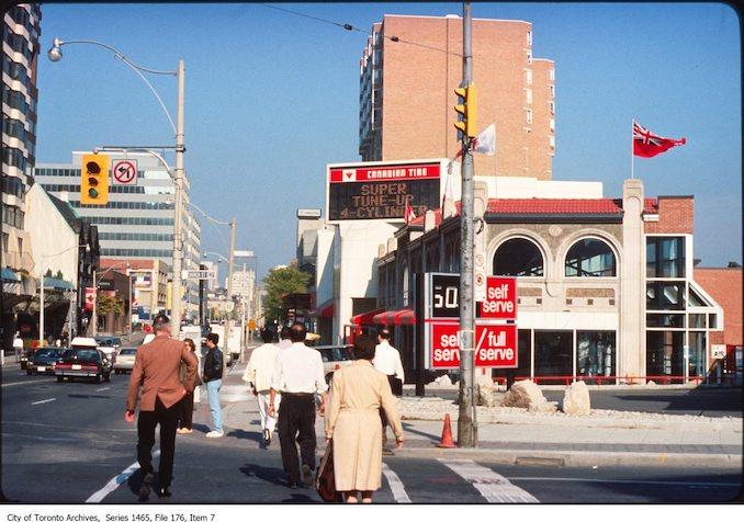 1980 - 1998 - Yonge Street north of Bloor - Canadian Tire