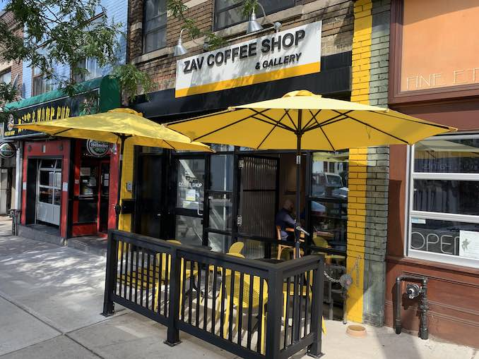 Our favourite coffee shop to hit up in the morning is Zav's at Woodbine and Danforth. The owners are so lovely and Arya makes incredible coffee.