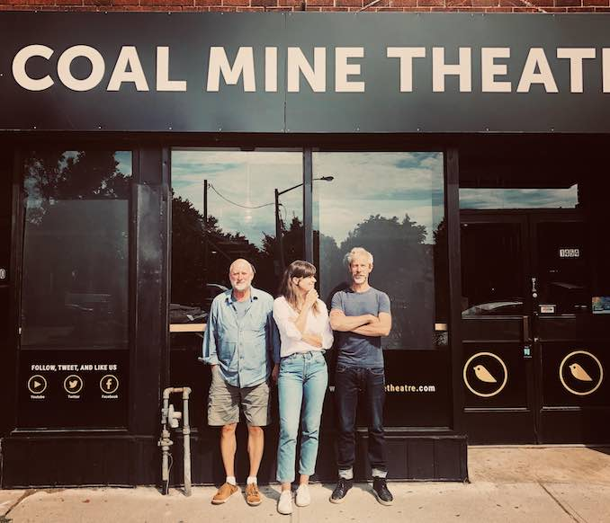 I head to the Coal Mine where I either produce all day, or start rehearsals. Right now I am in rehearsals for Knives in Hens with Jim Mezon and Jonathon Young pictured here.