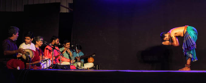 Bhavajan Kumar - A moment at the end of one of my performances in Chennai