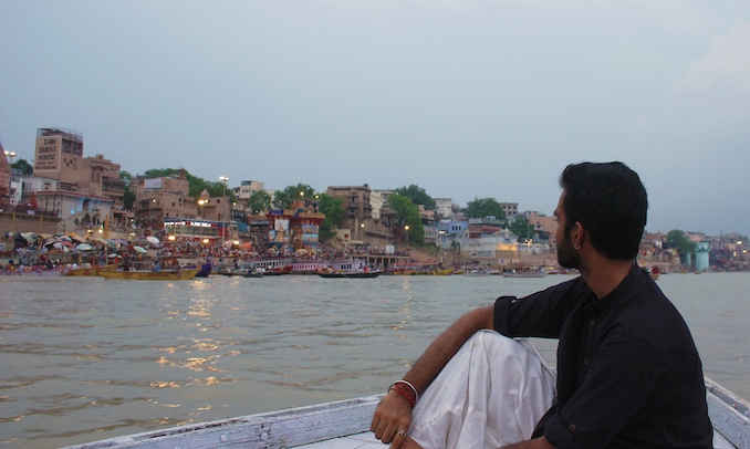 Bhavajan Kumar - Travelling is an important part of my art. I like to take in the energy of ancient spaces. This is in Varanasi