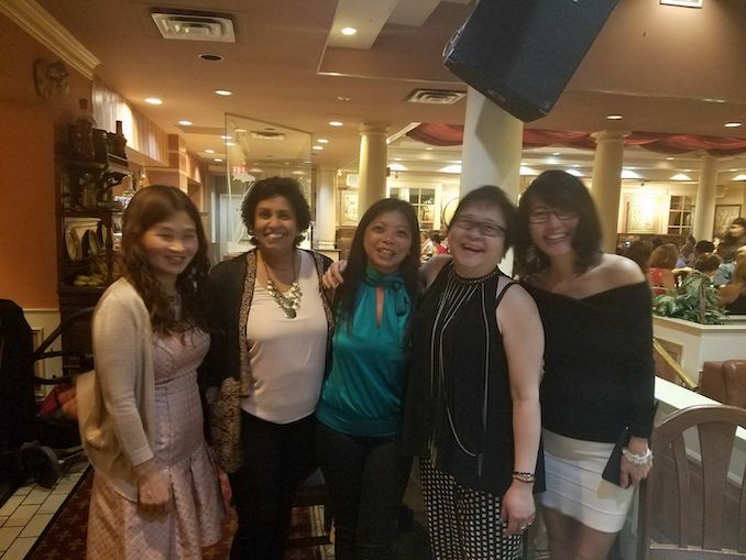 Shirin Ariff - Joyful reunion moments with school friends. We went to school together in India and our friendship is over 40 years old but when we meet, our giggles sound not a day more than when were 16! - (L to R) Nancy, Me, Tracy, Paulina and Queenie