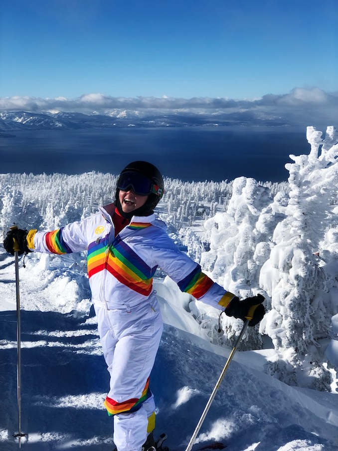 Skiing in Lake Tahoe - I love to be outdoors and active :)