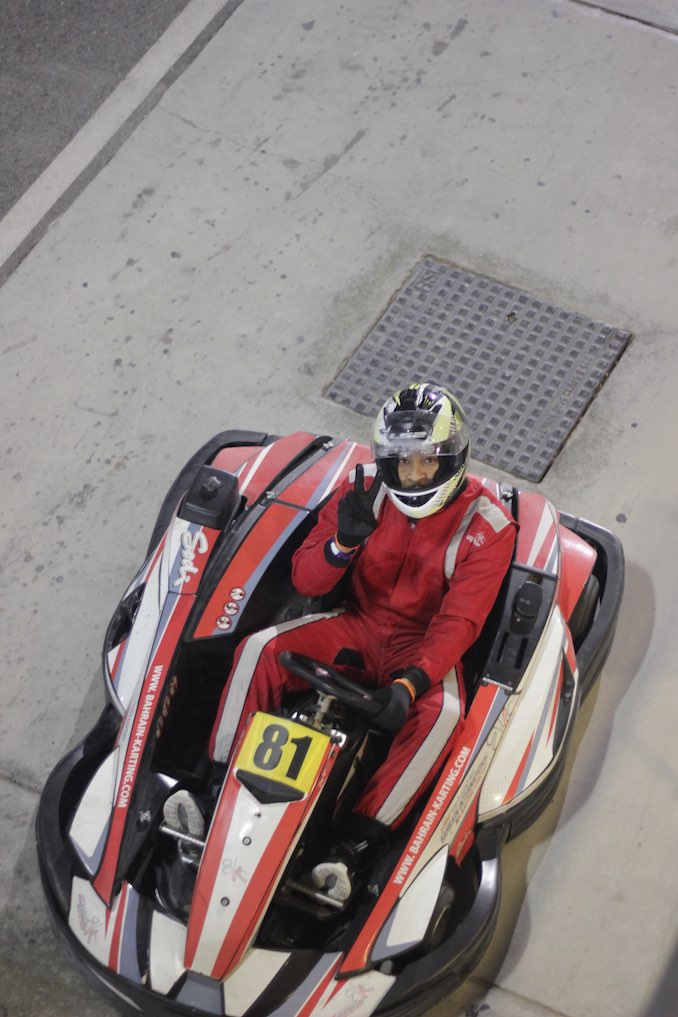Like I said, I gotta need for speed. Bahrain International Karting Circuit.