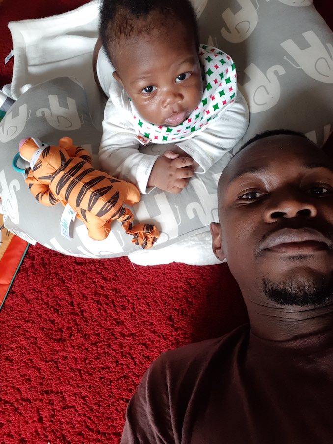Pulga Muchochoma - At home spending time with my little guy Prince Kafri.