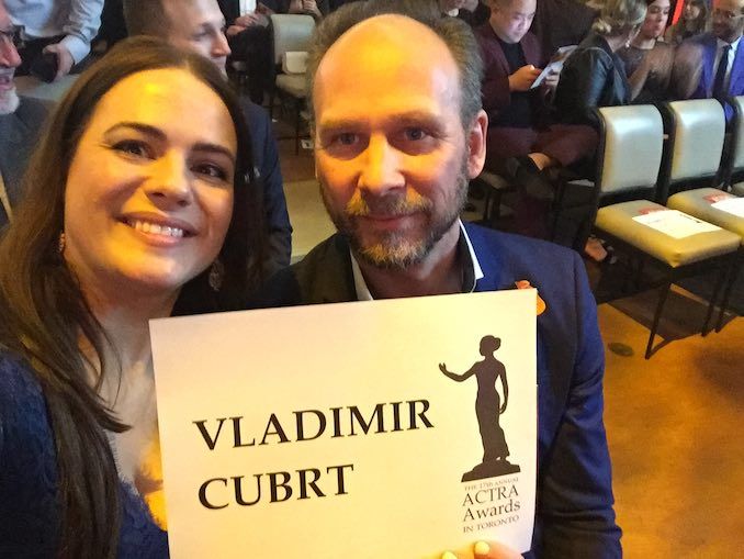 Vladimir Jon Cubrt - Vlad and Nicole attend the ACTRA awards at the Carlu. The one and only time that I, personally, was nominated for an award. I didn't win it, in case you were wondering, but you probably weren't.