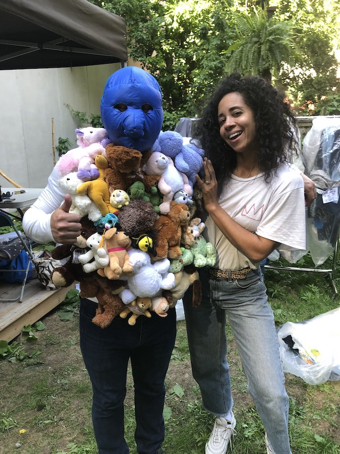This is me on set with a costume I created for the web series Bit Playas.