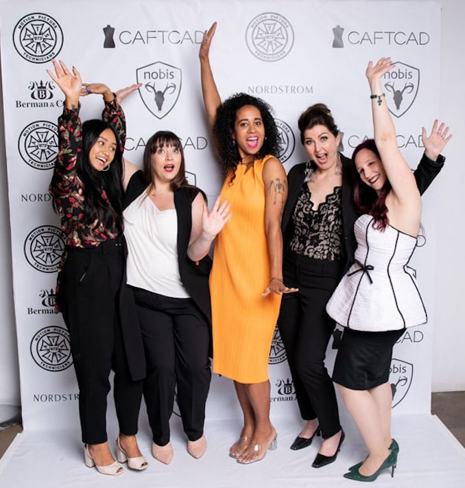 Vanessa Magic - This is me having a blast with Alyssa Gallardo, Lynsey Clark, Deanna Sciortino and Alex Kavanagh at CAFTCAD Celebrates, an event that celebrates the achievements of Canadian costume designers.