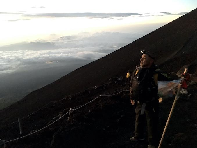 I climbedup Mt. Fuji with all of YAMATO members. It was so good experience for my life.
