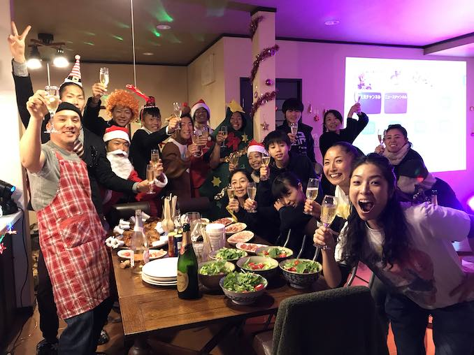 Masa Ogawa - YAMATO's Christmas party in our house in Asuka village.