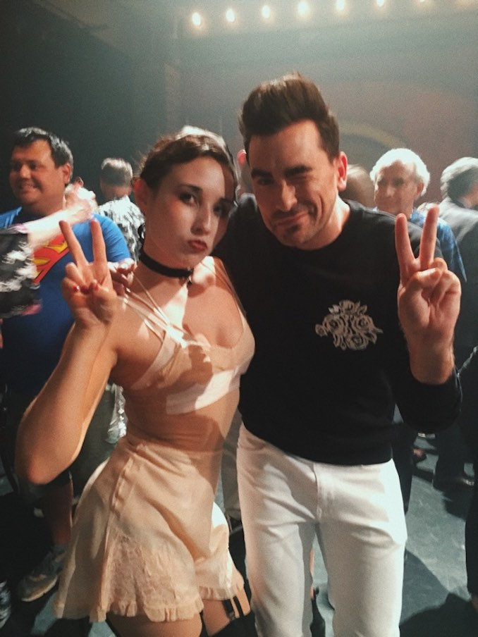 Jade Whitney - Peace signs with Schitt's Creek creator and actor Dan Levy.