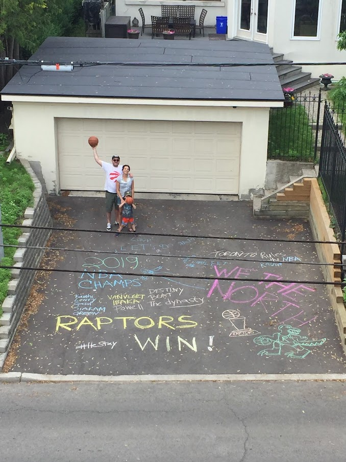 Paloma Nunez - Our Neighbour bet on Golden State Warriors last year and said if lost we could decorate his driveway. So here we have it!