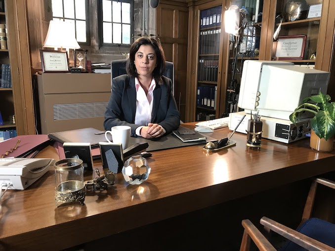 Paloma Nunez - This is me on the set of NEW EDEN (Crave TV) Making my mom proud as a lawyer!