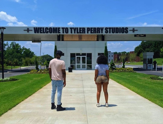 Troy Crossfield - Sheronna and I at Tyler Perry studios dreaming big