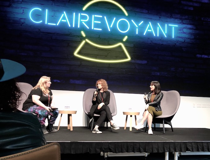 Annie Briggs - Doing press for Season 1 of my show CLAIREvoyant, with my co-creator Natasha Negovanlis - we were invited out to the YouTube headquarters in L.A. to speak about queer representation and digital series development.