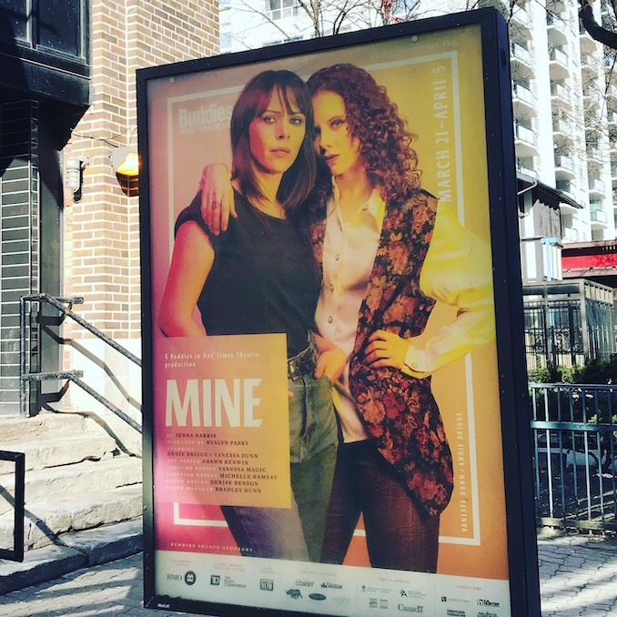 Annie Briggs - Getting saucy with my costar Vanessa Dunn in Mine, opening at Buddies in Bad Times March 25th.