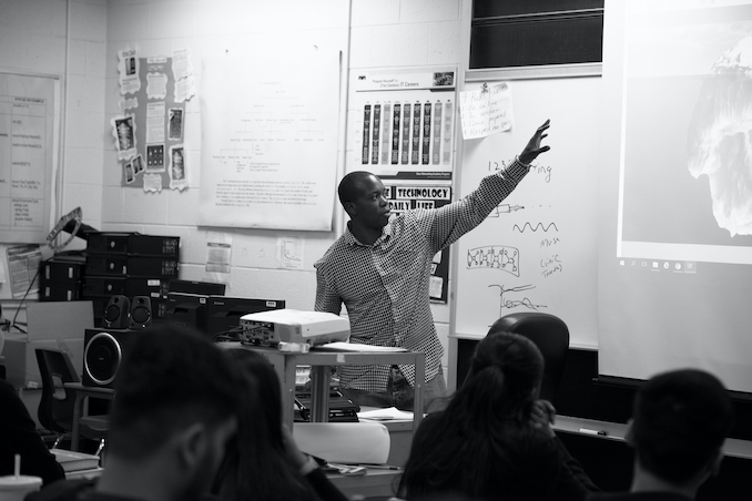 Ajani Charles presenting as part of a photography panel for Artscape Daniels Launchpad's Summit.