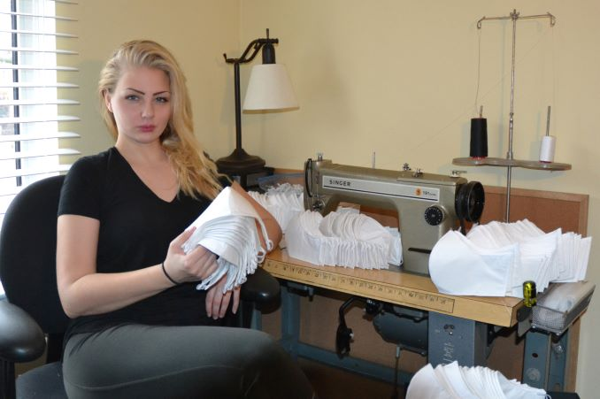 Diana Von Gruning Toronto fashion designer is donating hundreds of masks to front line workers