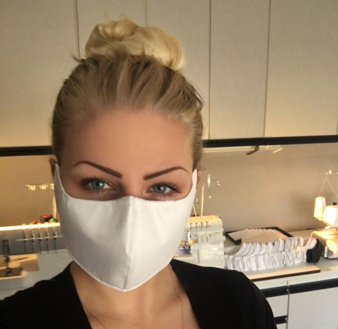 Diana Von Gruning donating hundreds of Covid-19 masks